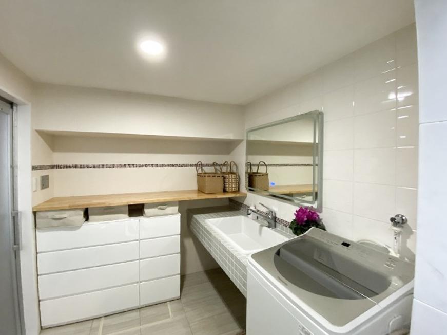田原市で一戸建てを建てるならここちeeハウス 洗面脱衣室