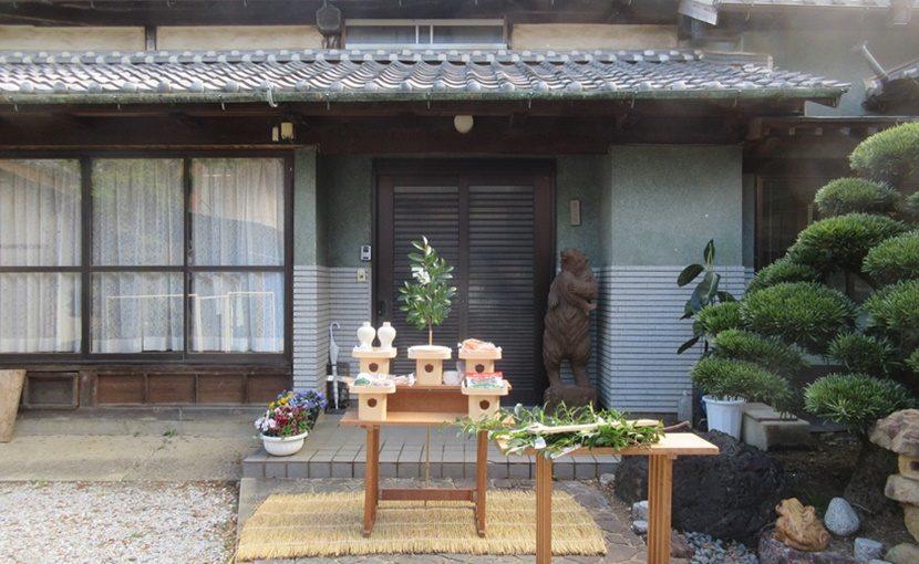 田原市で新築、建て替えならここちeeハウス 解体前ご祈祷
